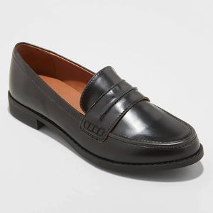 Faux Leather Closed Back Loafers